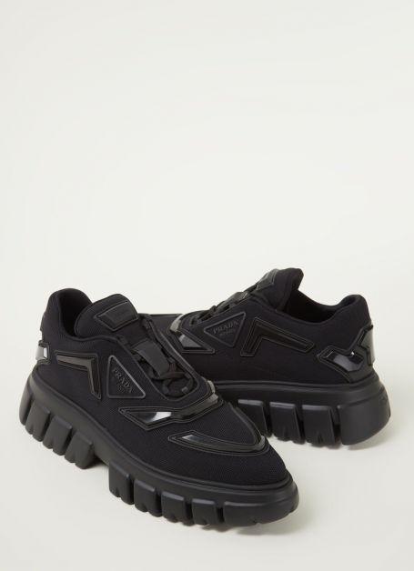 Sneaker avec détails en maille Prada 790€