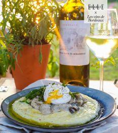 Purée aux huîtres et vins de Bordeaux