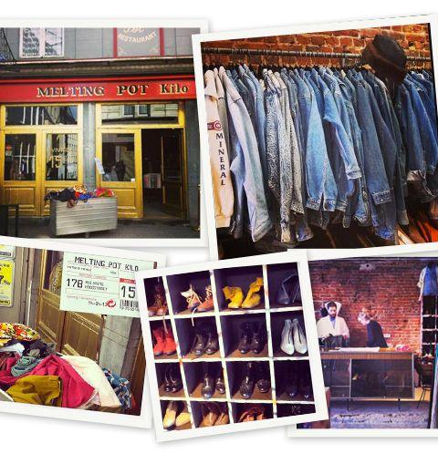 La boutique vintage qui vend au kilo