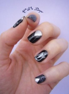 ongles glam rock