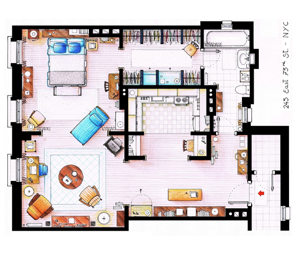 Appartement de Carrie Bradshaw