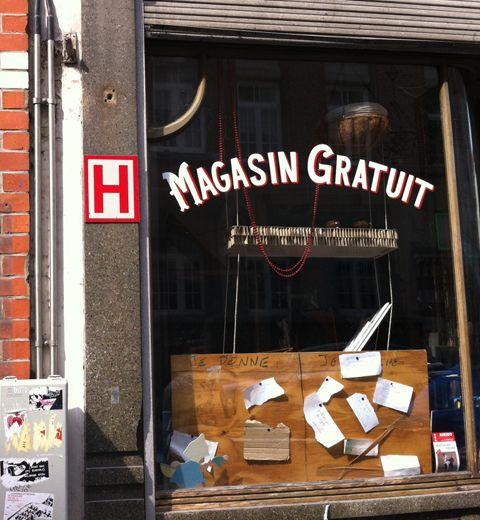 Un magasin gratuit à Bruxelles