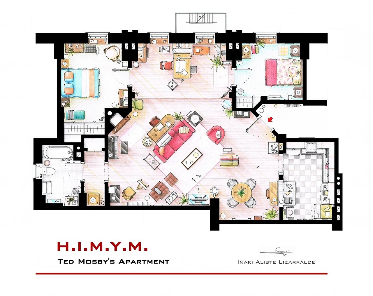 plan appartement carrie bradshaw