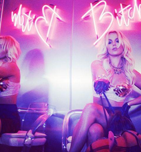 Britney Spears en lingerie Marlies Dekker dans son clip Work Bitch