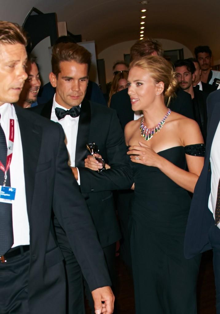 Le couple Romain Dauriac et Scarlett Johansson