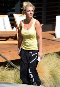 britney spears goes shopping at the country mart in malibu