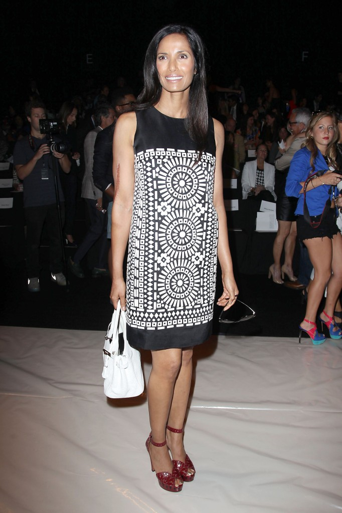 naeem khan show during spring 2014 mercedes-benz fashion week - backstage and front row