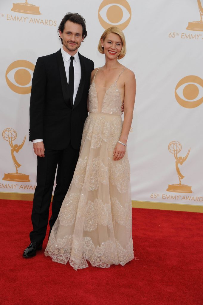 los angeles, 2013-9-22 / tv personality heidi klum arrives at the 65th annual primetime emmy awards held at the nokia theatre l.a. live.the 40-year-old german model was wearing s shimmering fuchsia versace gown.--> pictured: actors claire danes and hugh
