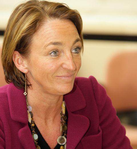 Michèle Sioen, la première femme à la présidence de la FEB