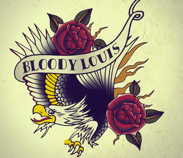 Logo de Bloddy Louis, réalisé par Claire Laffut