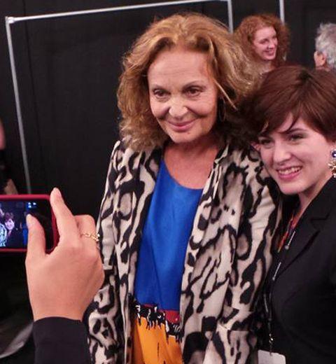 Le défilé Diane Von Furstenberg été 2014 vu par Nicolas Fracassi