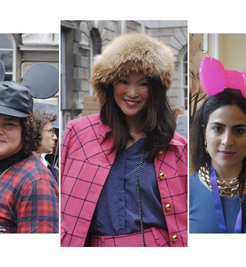 Streetstyle: les chapeaux fous de la fashion week de Londres