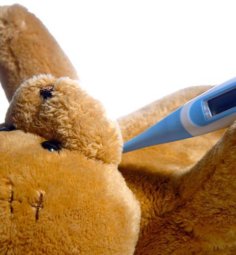 Le nounours qui mesure la tension et la température du bébé