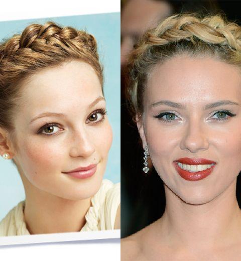 La tresse grecque de Scarlett Johansson