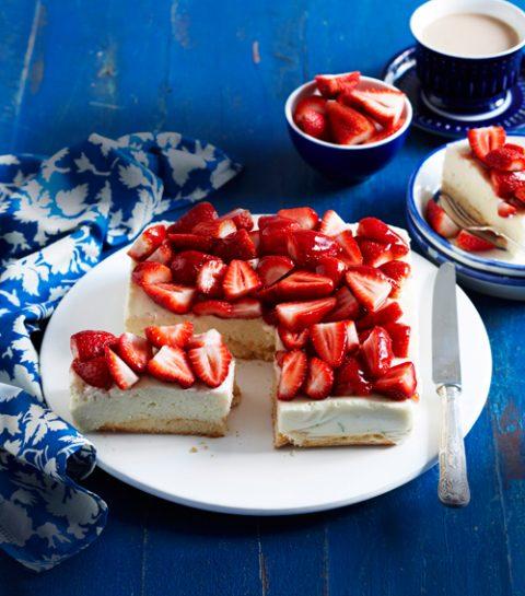 Tartelette aux fraises, chocolat blanc et spéculoos