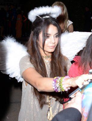 vanessa hudgens leaving a halloween party in los angeles