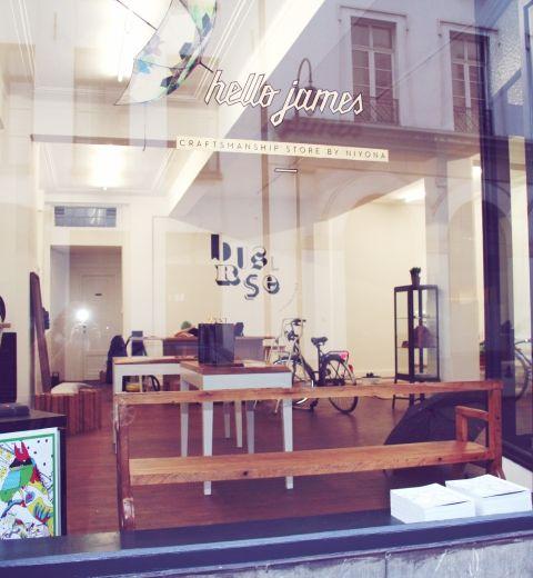 Hello James, un nouveau concept-store à Bruxelles