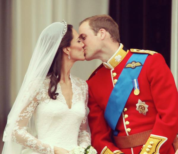 Kate et William à leur mariage