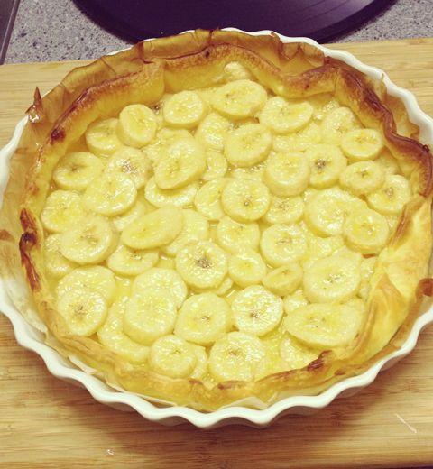 La tarte à la banane et au pastis