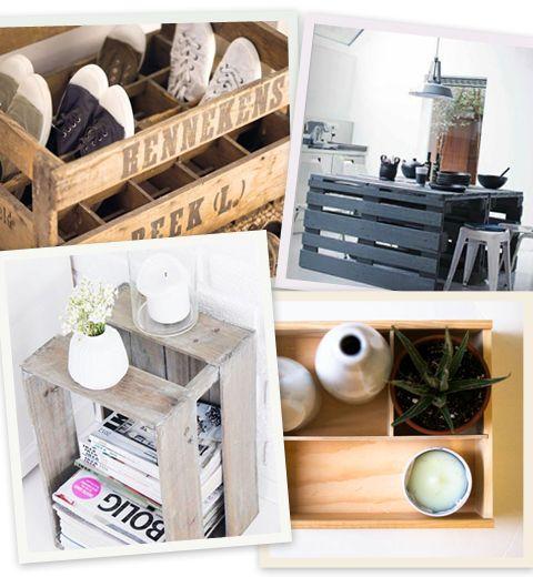 12 idées pour recycler une vielle caisse en bois