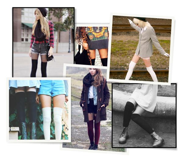 15 fa ons de porter les chaussettes hautes - Comment porter les chaussettes hautes ...
