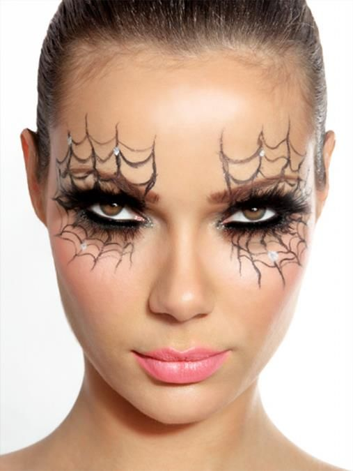 maquillage femme araignee halloween