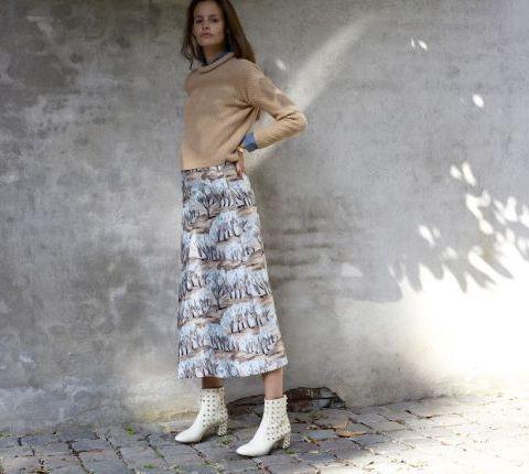 La jupe mi-cheville imprimée
