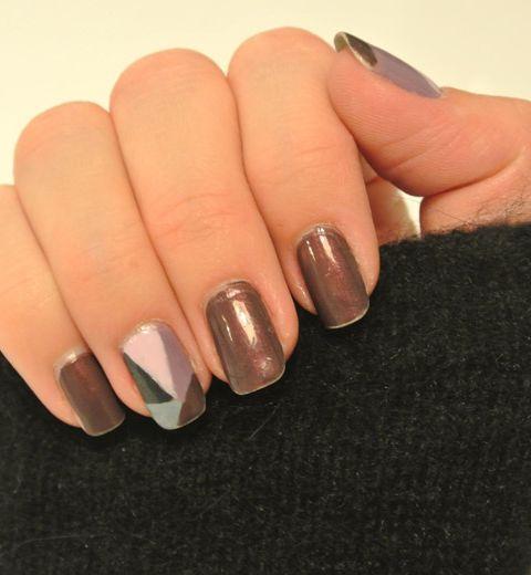 Le nail art patchwork 50's