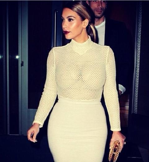 Kim Kardashian en Véronique Leroy