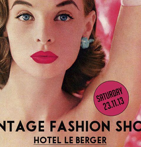Le Vintage Fashion Show à l'Hotel le Berger