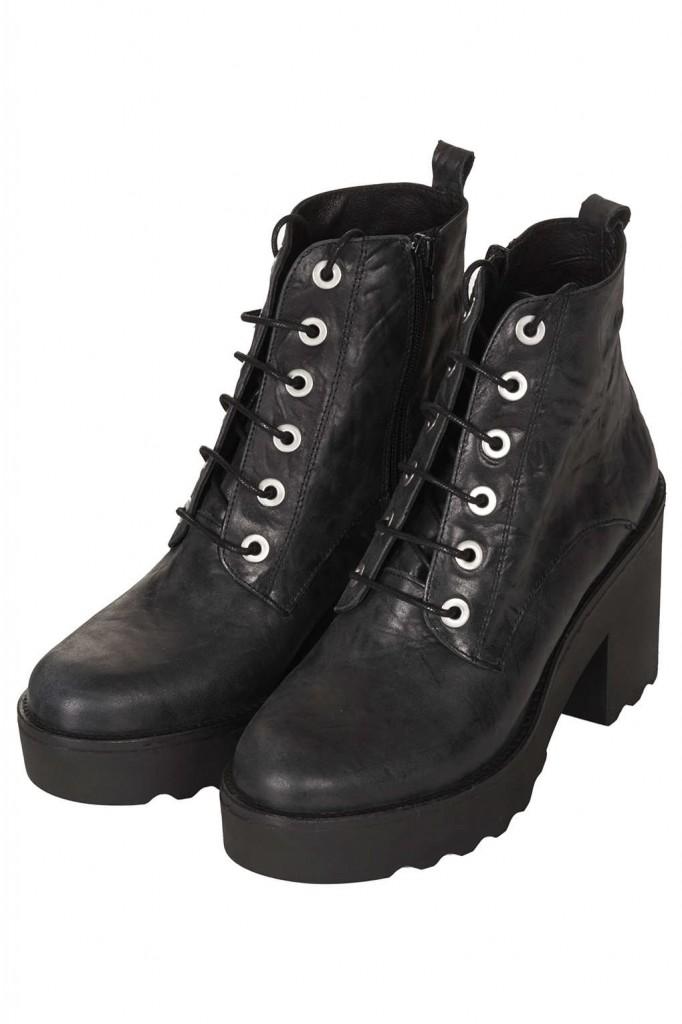 Boots à lacets Topshop 110€