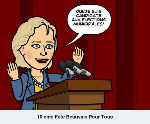 Caroline Cayeux, sénatrice-maire UMP de Beauvais, a annoncé sa condidature aux municipales via les réseaux sociaux