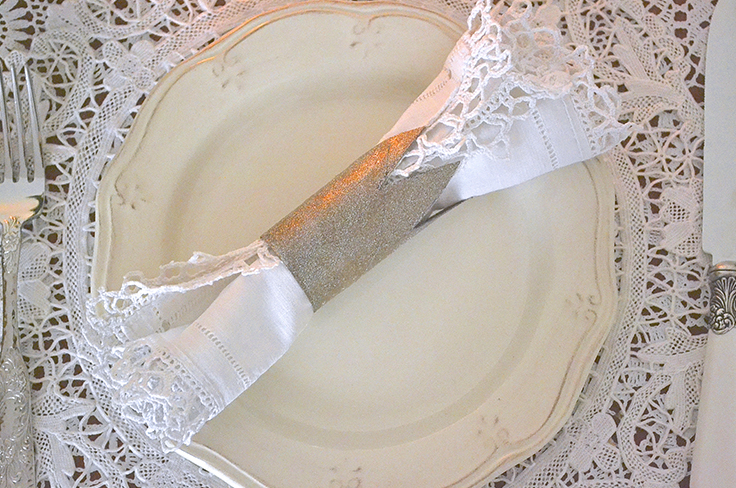 Rond de serviette réalisé par le blog queen of a day