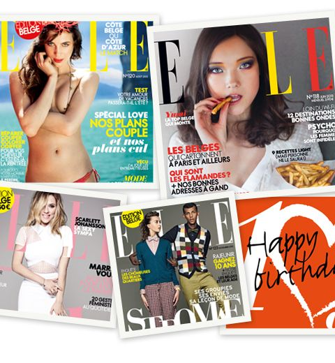 ELLE Belgique: 2013 en 11 covers