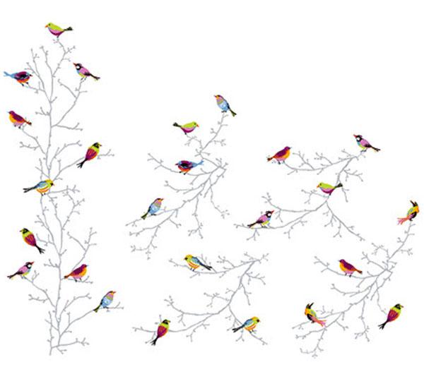 décoration-oiseaux-(collant)