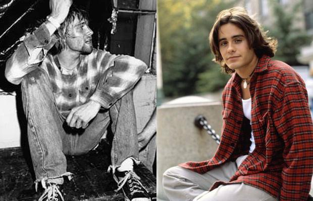 années 90 - Kurt Cobain et Jared Leto