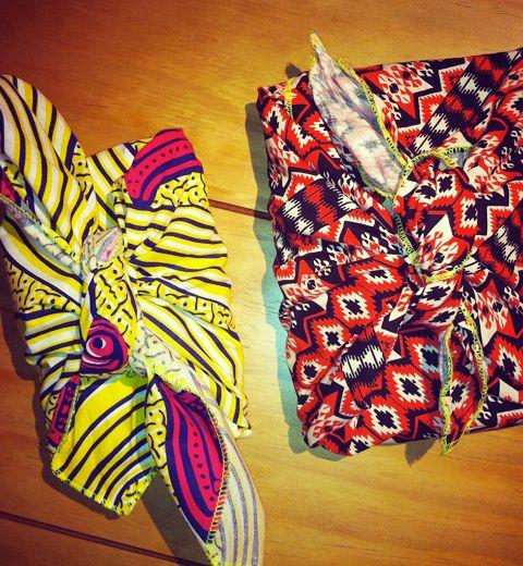 Comment réaliser un furoshiki, l'emballage cadeau en tissu ?