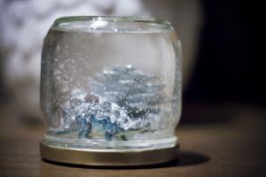 Boule à neige réalisé par Alice du blog Weddingland