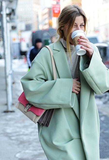 manteau vert d'eau