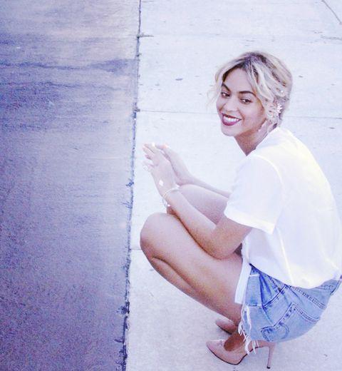 Beyoncé poste des photos d'elle au naturel