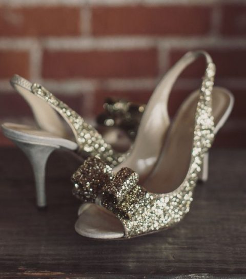 Des chaussures à paillettes pour mon mariage ?