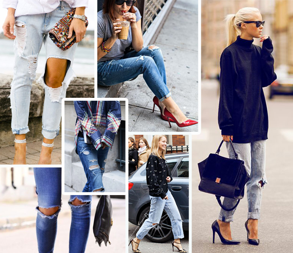 20 fa ons de porter le jean trou en hiver. Black Bedroom Furniture Sets. Home Design Ideas