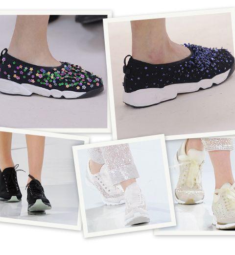Chanel et Christian Dior : la mode plein les baskets