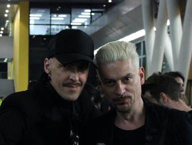 Didier Vervaeren (directeur artistique de MAD Brussels et Fashion Gourou) et Tony Delcampe (directeur de La Cambre Modes),