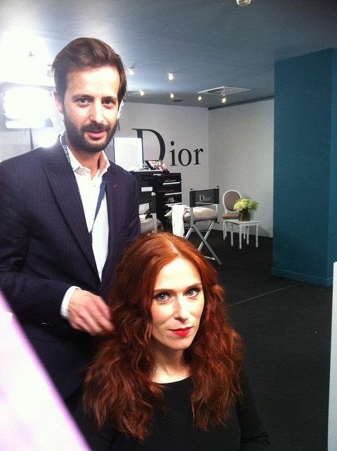 Adrien Celho Premier Studio pour l'Oréal, coiffe Audrey Fleurot.