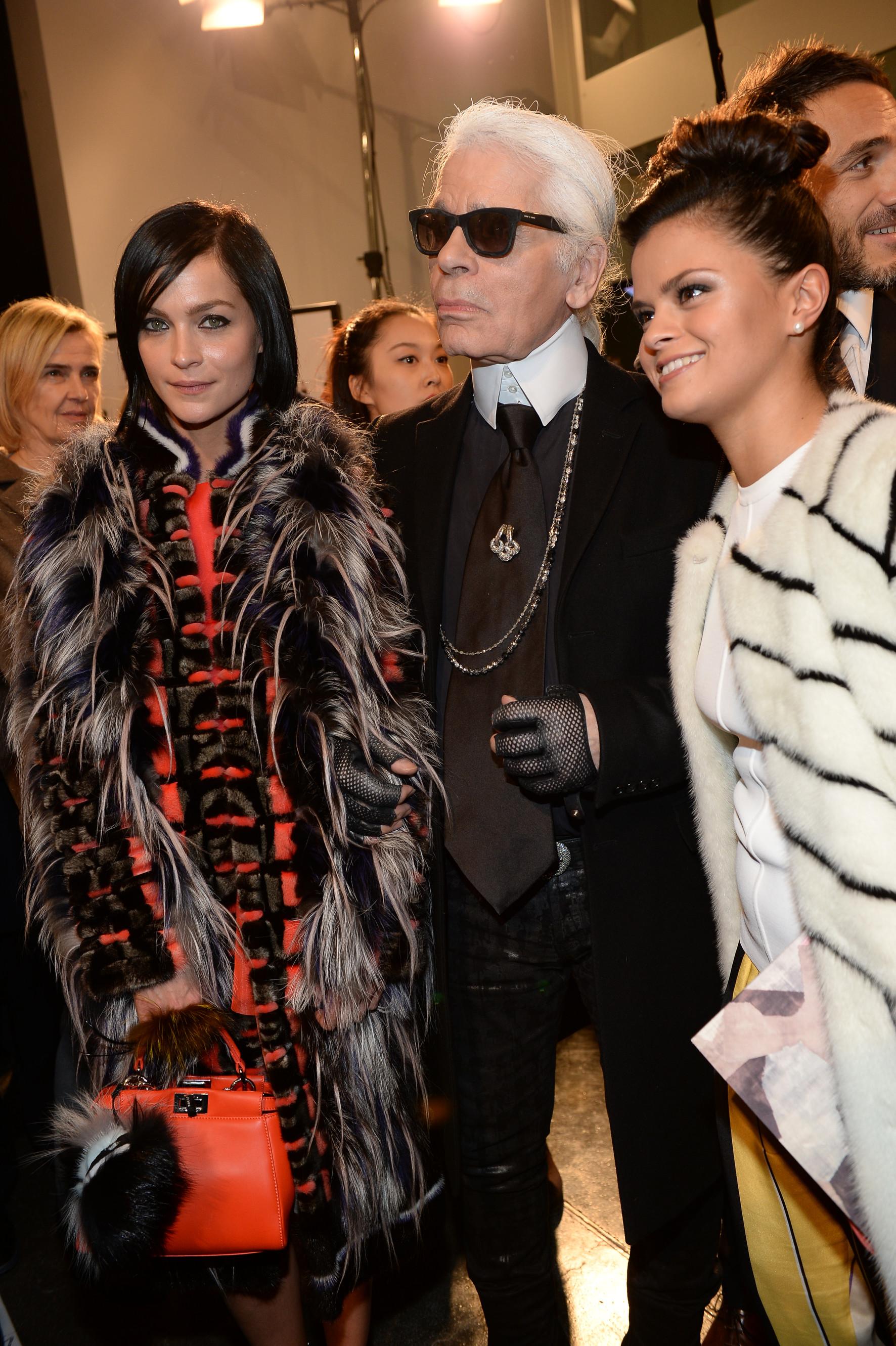 FENDI_frontrow Milano Womens Fashion week FW 14/15 Milan - Italy