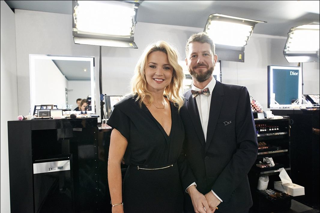 Virginie Efira et Mathieu de Mayer. Backstage Dior © Imagellan/Laure Geerts.