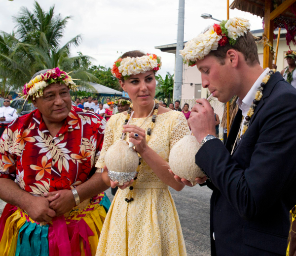 Kate et William, TUvalu