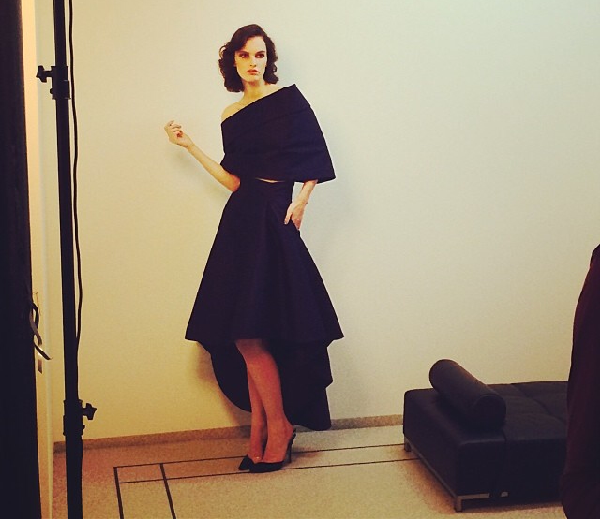 Lisa Verberght - Shooting Natan Couture Eté 2014
