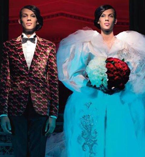 Stromae en robe de mariée pour Jean-Paul Gaultier